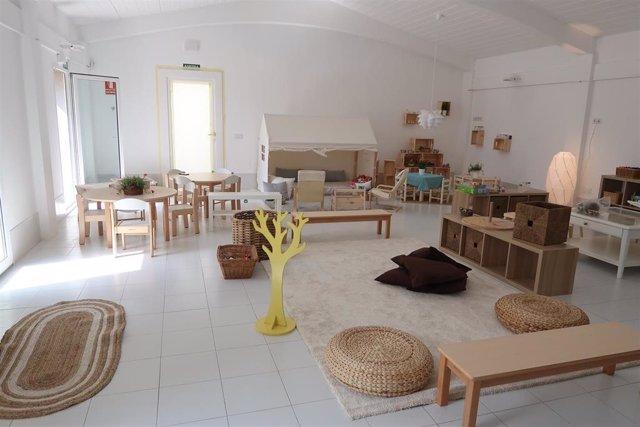 Instalaciones acondicionadas para acoger alumnos de manera provisional en Can Cirera Prim, en Sa Pobla.