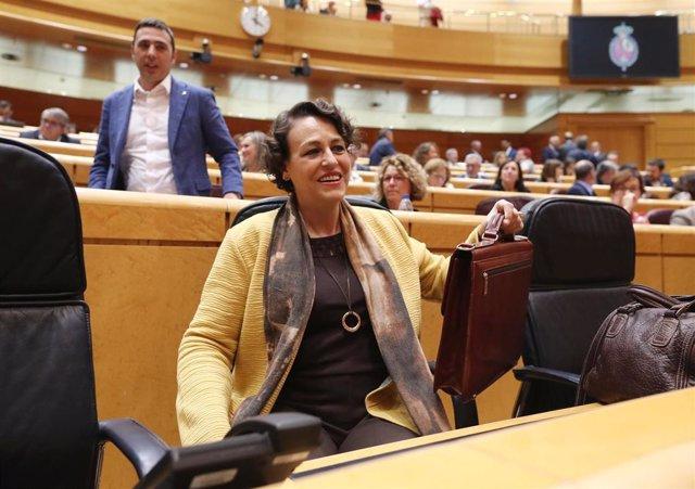 La ministra de Trabajo, Migraciones y Seguridad Social en funciones, Magdalena Valerio, durante la primera sesión plenaria de la  XIII Legislatura en el Senado, en Madrid (España), a 10 de septiembre de 2019.
