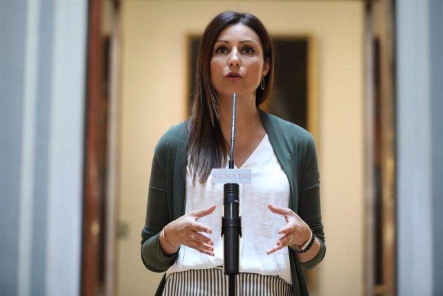 La portavoz de Ciudadanos en el Senado, Lorena Roldán
