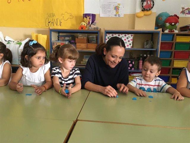 Maribel Lozano en el inicio del curso escolar