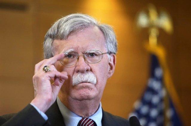 August 28, 2019 - Kiev, Ukraine: US Presidential Adviser on Homeland Security John Bolton during a news conference. August 28, 2019. Ukraine, Kiev. (Ivan Kovalenko/Kommersant/Contacto)