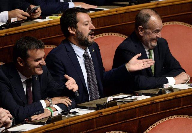 Italia.- Conte y Salvini protagonizan un combate dialéctico en el Senado tras la