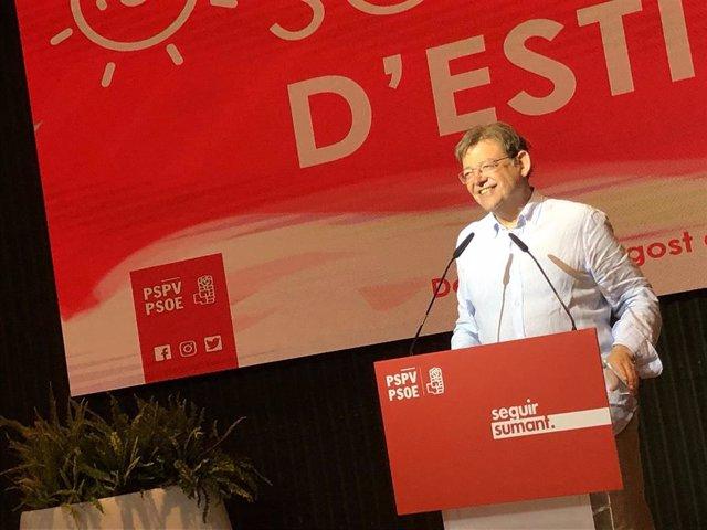 Puig en la cena de verano de los socialistas en Dénia