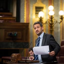El diputado del PP Jaime de Olano, ante el Pleno del Congreso