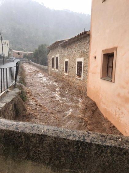 El torrente de Sa Mosquera de Selva y el torrent Petit de Campanet se desbordan