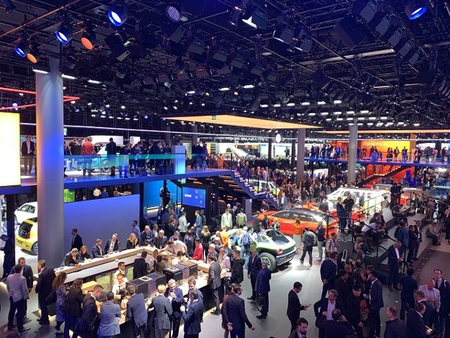 Pabellón del grupo Volkswagen en el Salón Internacional del Automóvil de Frankfurt 2019