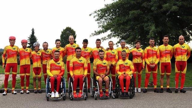 La selección española de ciclismo adaptado