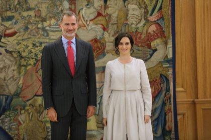 """Ayuso traslada al Rey, en un encuentro """"muy positivo"""", la lealtad de su Gobierno y las preocupaciones de los madrileños"""