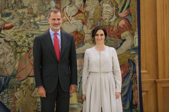 El Rey Felipe recibe a Isabel Díaz Ayuso