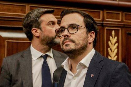 """Garzón (IU) subraya al PSOE que no encontrará fisuras en Unidas Podemos """"al borde de unas elecciones"""""""