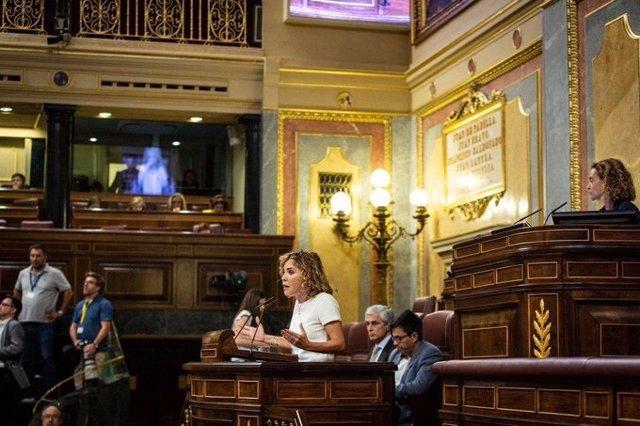La diputada de Ciudadanos Marta Martín durante su intervención en el Pleno del Congreso