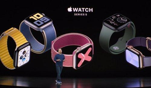 Presentación de los Apple Watch 5