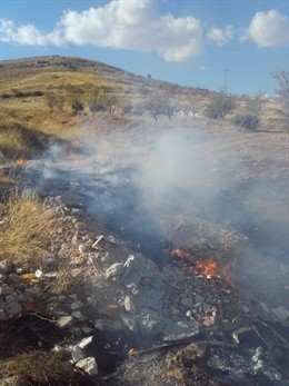 Incendio en la planta de residuos vegetales de Motril
