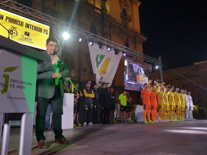 Reyes pone en valor el trabajo de promoción de la provincia que hace el Jaén Paraíso Interior FS