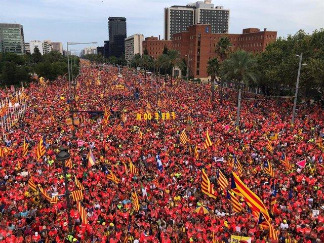Manifestación de la Diada 2018
