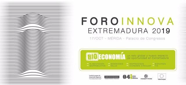 Cartel del Foro Innova Extremadura 2019