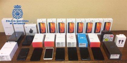 Siete detenidos por robar móviles y material electrónico de la empresa de reparto en la que trabajaban