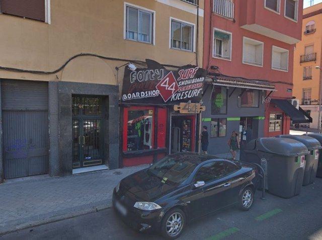 Lugar donde supuestamente fue violada una joven en la madrugada del 8 de septiembre