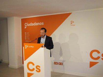 """Baena (Cs) critica que """"la 'película' de Andreu de estos meses costará a los riojanos, al menos, 5 millones de euros"""""""