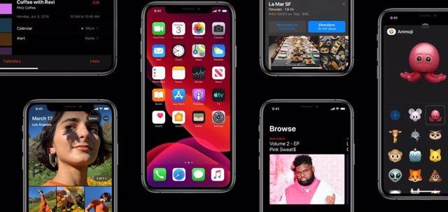 Sistema operativo móvil iOS 13