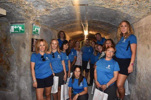 Alumnos del taller de empleo de Abrucena visitan los Refugios de Almería