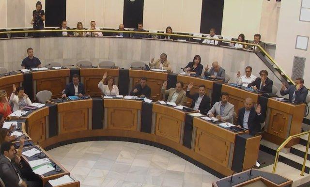 Pleno de este miércoles en la Diputación de Alicante.