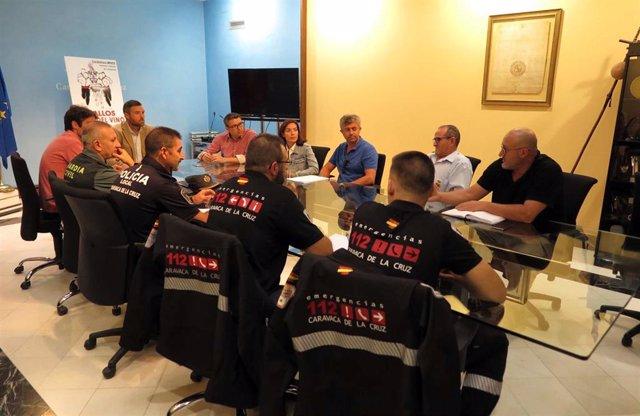 Reunión dispotivo preventivo Emergencias ante las lluvias en Caravaca