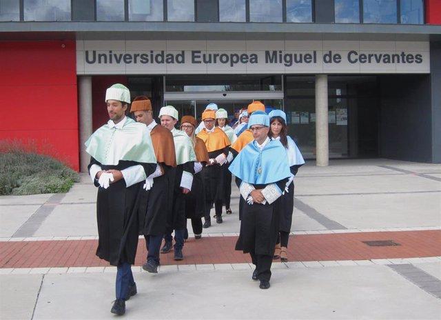 Acto de apertura del curso en la Universidad Miguel de Cervantes.