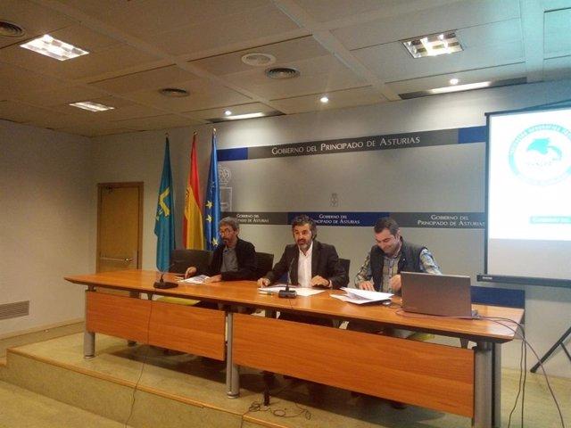 Javier González, Alejandro Calvo y Rubén Fernández
