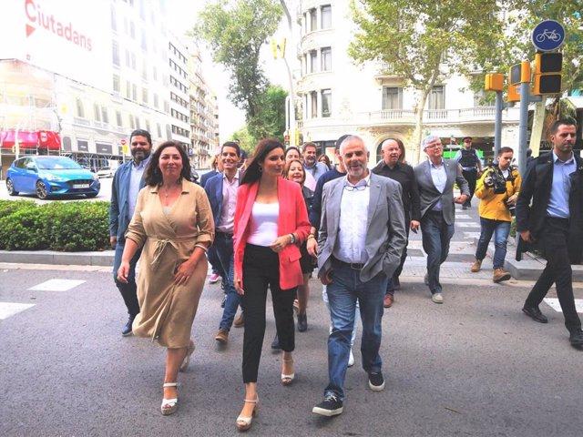Nacho Blanco, Lorena Roldán, Carlos Carrizosa (Cs)