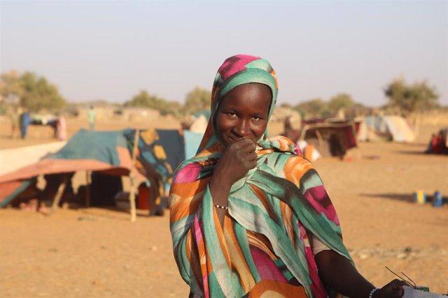 Una niña desplazada en Malí
