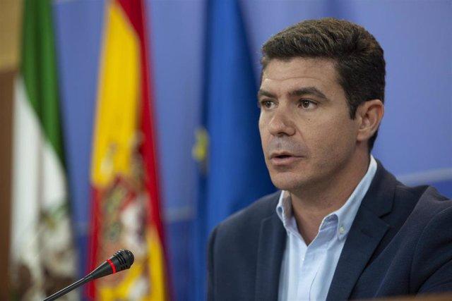 Rueda de prensa del portavoz del Grupo Parlamentario Ciudadanos (Cs), Sergio Romero
