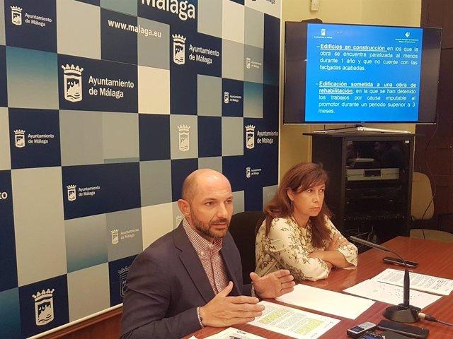 Rueda de prensa sobre registro solares en Málaga capital