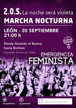 Cartel de la marcha nocturna que tendrá lugar el 20 de septiembre.