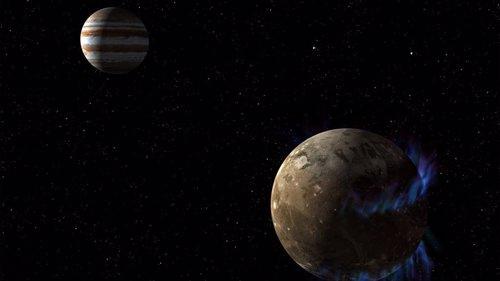 Recreación de la luna Ganímedes