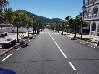 Concluyen las obras de pavimentación de la arteria central de Torrecilla de los Ángeles (Cáceres)