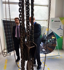 Visita del Consejero de Industria, Empleo y Promoción Económica  a  las instalaciones de la Fundación Asturiana de la Energía (FAEN).