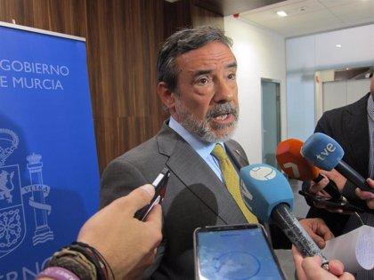 El delegado del Gobierno pide precaución ante el aviso rojo por lluvias y tormentas en la Región