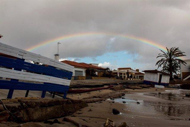 Daños provocados por el temporal en la costa de Huelva