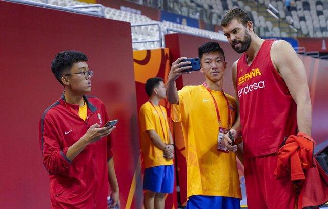 Marc Gasol con la afición china