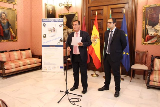Juan Carlos Cabrera, durante la presentación de la Semana de la Movilidad