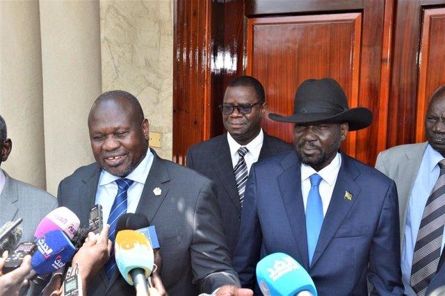 Salva Kiir y Riek Machar