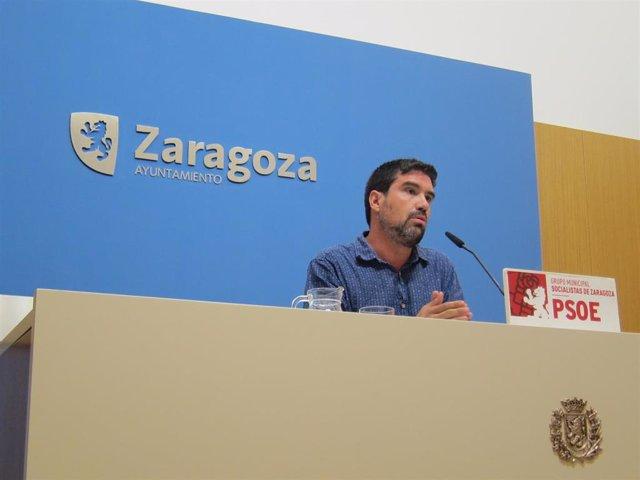 El concejal del PSOE en el Ayuntamiento de Zaragoza, Horacio Royo.