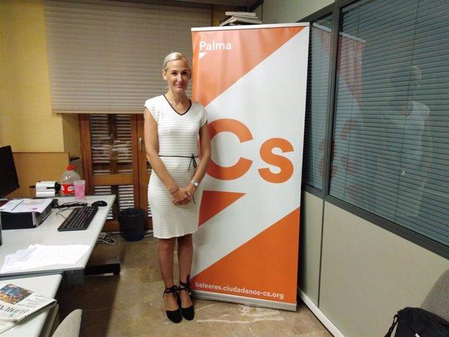 La portavoz municipal de Cs en Palma, Eva Pomar