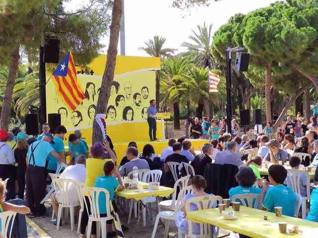 Pere Aragonès en el acto de ERC por la Diada