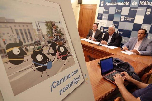 El concejal delegado de Movilidad de Málaga, José del Río, presenta la Semana Europea de la Movilidad.