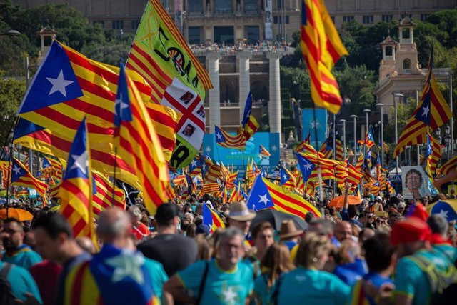 Manifestación de la Diada en Barcelona