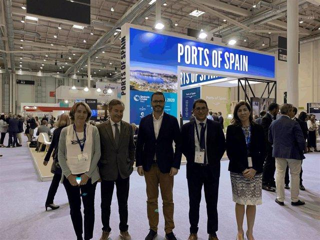 Una delegación de Baleares, encabezada por el conseller Negueruela, asiste a la Feria Seatrade Europe 2019, en Hamburgo.