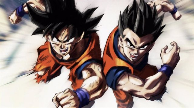 Goku y Gohan en Dragon Ball