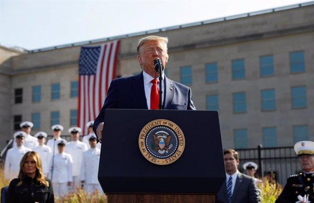 Donald Trump en los actos por el 11-S en el Pentágono